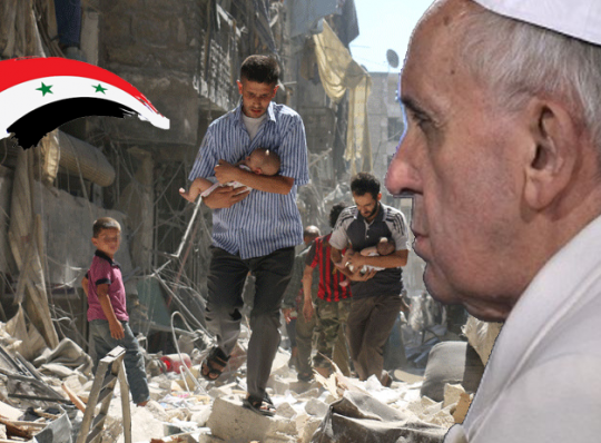 Il Papa prega per la Siria